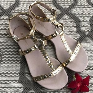 BCBGeneration | Gold Gladiator Sandals